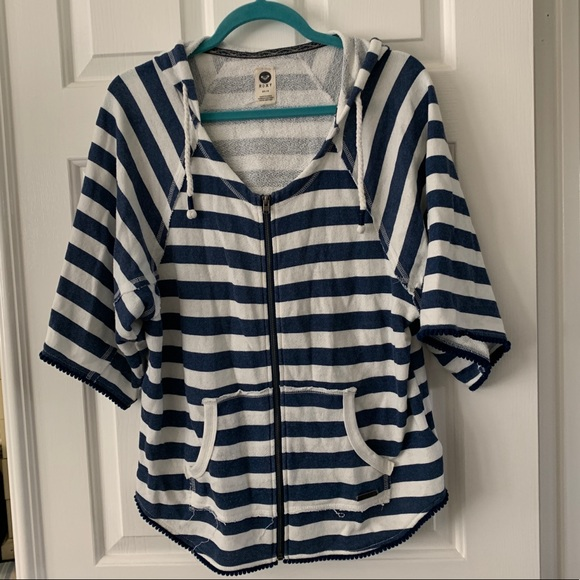 Roxy Jackets & Blazers - Roxy Stripe Zip Up Hoodie